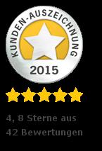 Zertifikat Kunden-Auszeichnung 2015